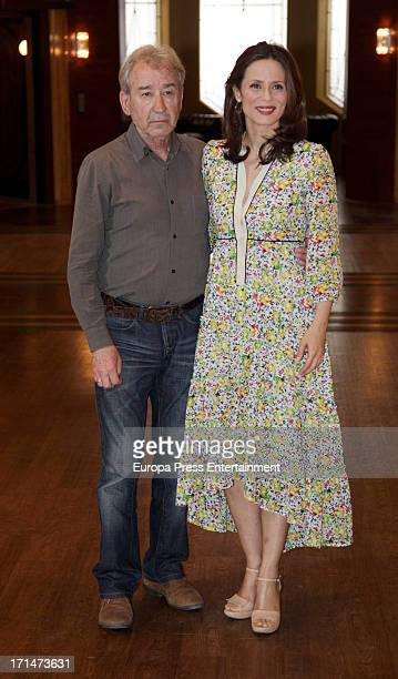 Jose Sacristan and Aitana Sanchez Gijon are seen on set filming 'Galerias Velvet' on June 24 2013 in Madrid Spain
