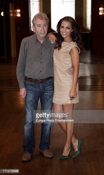 Jose Sacristan and Paula Echevarria are seen on set filming 'Galerias Velvet' on June 24 2013 in Madrid Spain