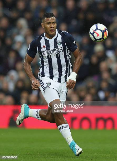 Jose Salomon Rondon of West Bromwich Albion in action during the Premier League match between West Bromwich Albion and Watford at The Hawthorns on...