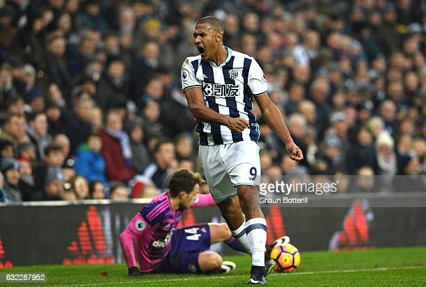 Jose Salomon Rondon of West Bromwich Albion reacts during the Premier League match between West Bromwich Albion and Sunderland at The Hawthorns on...