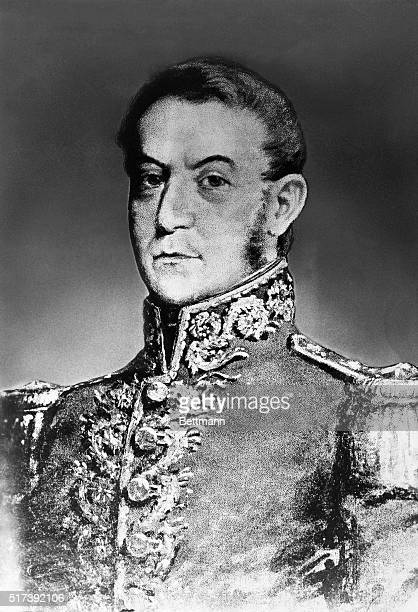 Jose San Martin South American soldier and statesman Head and shoulders portrait Undated illustration