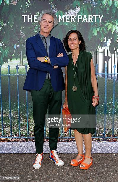 Jose Selgas and Lucia Cano arrive at The Serpentine Gallery summer party at The Serpentine Gallery on July 2 2015 in London England