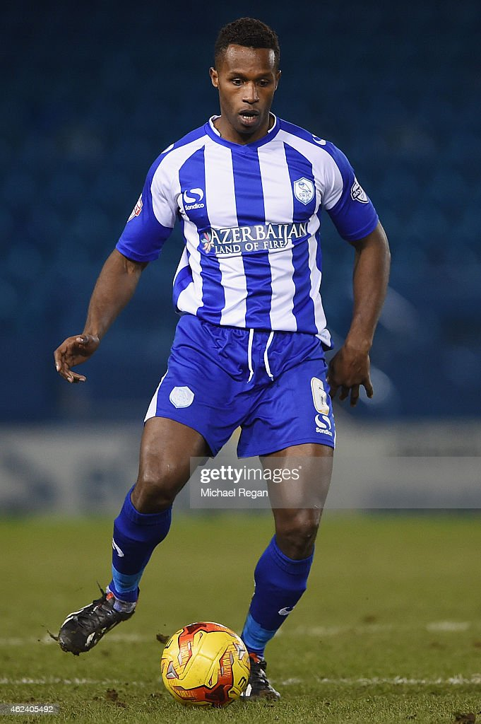 Jose Semedo of Sheffield Wednesday in action during the Sky Bet Championship match between Sheffield Wednesday and Birmingham City at Hillsborough Stadium on January 27, 2015 in Sheffield, England.