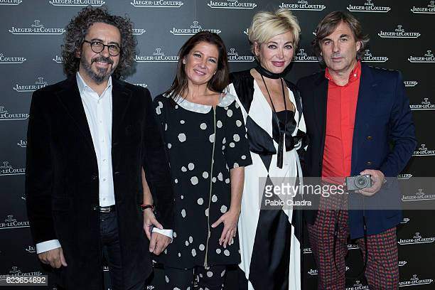 Jose Serrano Sara Baras Simona Gandolfi and Hubertus von Hohenlohe attend the 'Reverso' JaegerLeCoultre watch presentation at Alma Sensai Club on...