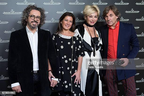 Jose Serrano Sara Baras Simona Gandolfi and Hubertus von Hohenlohe attend the 'Reverso' JaegerLeCoultre watch presentation at Alma Sensai Club...