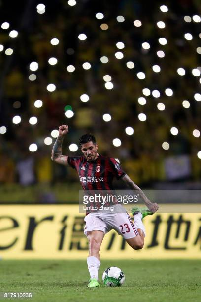 Jose Sosa of AC Milan in action during the 2017 International Champions Cup football match between AC milan and Borussia Dortmund at University Town...