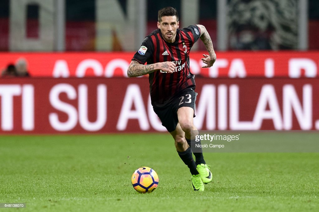 Jose sosa of ac milan in action during the serie a football jose sosa of ac milan in action during the serie a football match between ac milan voltagebd Image collections