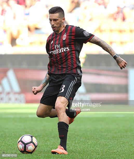 Jose Sosa of AC Milan in action during the Serie A match between AC Milan and Udinese Calcio at Stadio Giuseppe Meazza on September 11 2016 in Milan...