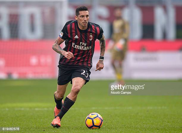 Jose Sosa of AC Milan in action during the Serie A match between AC Milan and Pescara Calcio at Stadio Giuseppe Meazza on October 30 2016 in Milan...
