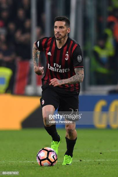 Jose Sosa of AC Milan in action during the Serie A match between Juventus FC and AC Milan at Juventus Stadium on March 10 2017 in Turin Italy