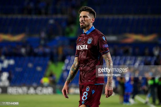 Jose Sosa of Trabzonspor AS during the UEFA Europa League match between Getafe v Trabzonspor at the Coliseum Alfonso Perez on September 19, 2019 in...