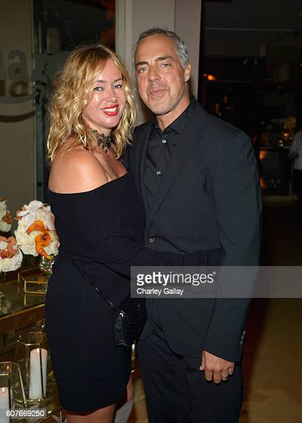 Jose Stemkens and Titus Welliver attend Amazon's Emmy Celebration at Sunset Tower Hotel West Hollywood on September 18 2016 in West Hollywood...