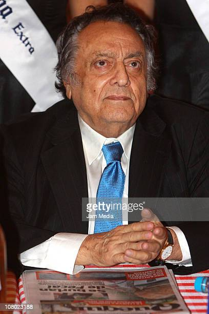 Jose Sulaiman WBC president during the press conference to announce the boxing function Gilberto Keb vs Jose Antonio Aguirre at Six Flags Mexico on...