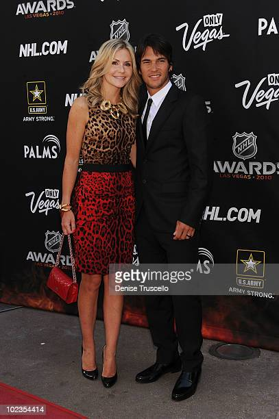 Jose Theodore arrive at the 2010 NHL Awards The Palms Casino Resort on June 23 2010 in Las Vegas Nevada
