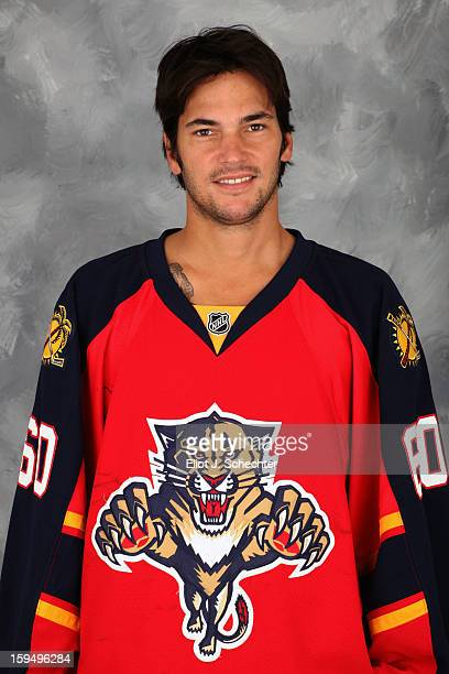 Jose Theodore of the Florida Panthers poses for his official headshot for the 20122013 NHL season on January 13 2013 in Coral Springs Florida