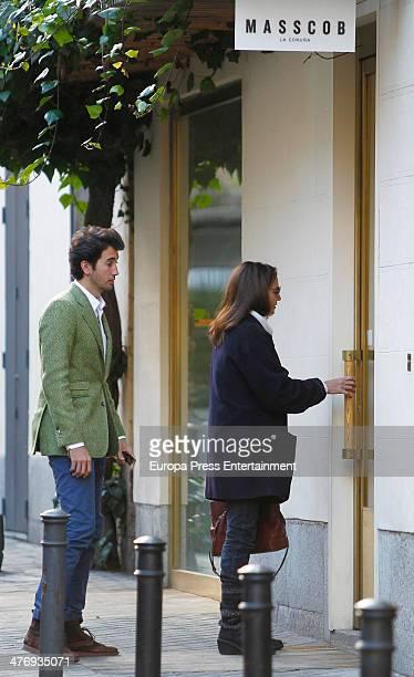 Jose Toledo and her son Daniel Martinez Bordiu are seen on March 5, 2014 in Madrid, Spain.