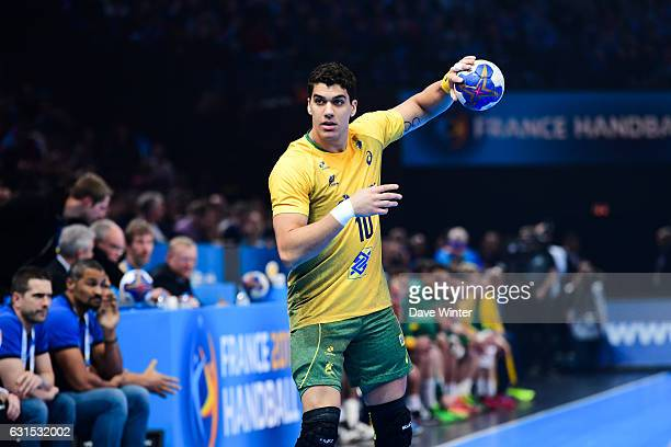 Jose Toledo of Brasil during the IHF Men's World Championship match between France and Brazil Preliminary round Group A at AccorHotels Arena on...