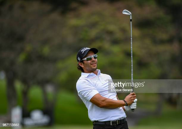 Jose Toledo of Guatemala during practice for the PGA TOUR Latinoamérica Guatemala Stella Artois Open at La Reunion Golf Resort Fuego Maya on March 14...