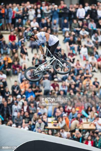 Jose Torres Gil of Argentina competes during the BMX Freestyle Park World Cup Semi Finals during the FISE on May 12 2018 in Montpellier France
