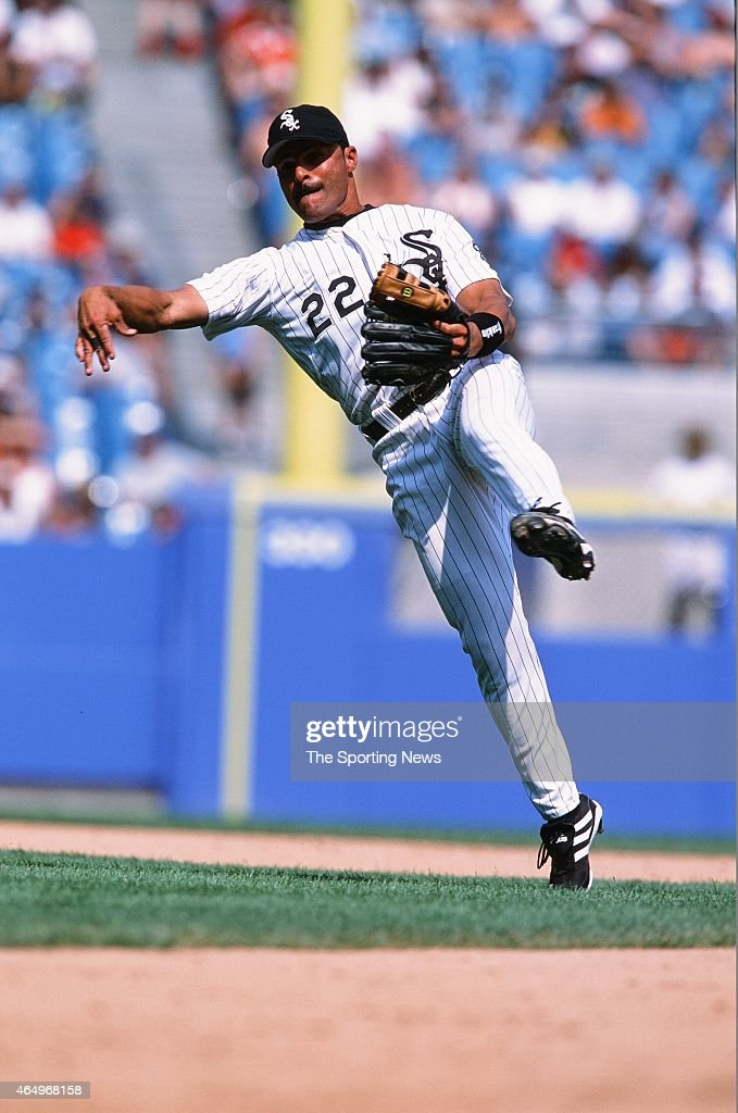 Jose Valentin Of The Chicago White Sox Fields Against The Seattle Mariners  At Comiskey Park On