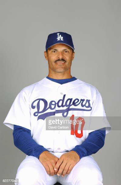 Jose Valentin of the Los Angeles Dodgers poses for a portrait during photo day at Holman Stadium on February 27, 2005 in Vero Beach, Florida.