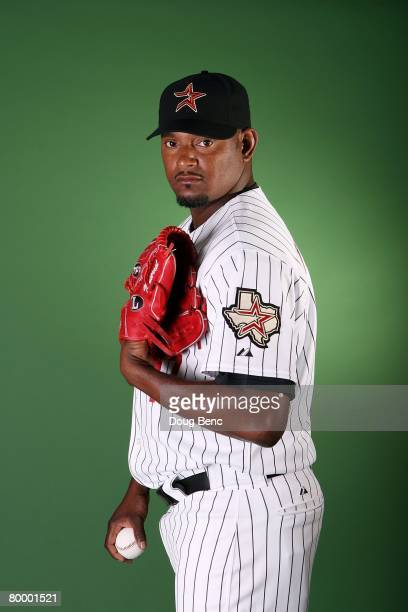 Jose Valverde of the Houston Astros poses during Spring Training Photo Day at Osceola County Stadium on February 25 2008 in Kissimmee Florida