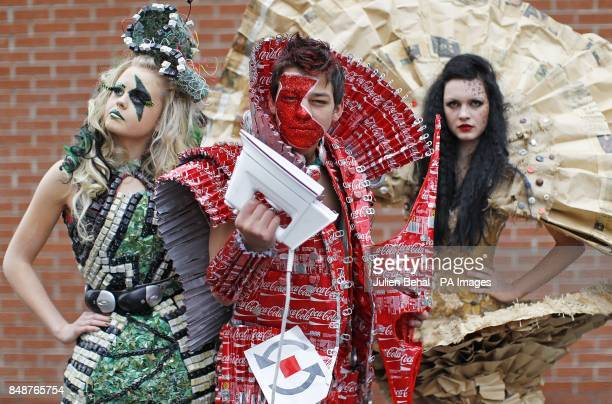 Jose Varandas a student from Holy Trinity College in Cookstown CoTyrone in Northern Ireland dressed as a Warrior Knight in an outfit made from Coke...