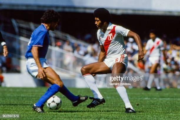 Jose Velasquez of Peru during the World Cup match between Italy and Peru at Balaidos Stadium Vigo Spain on 18h June 1982