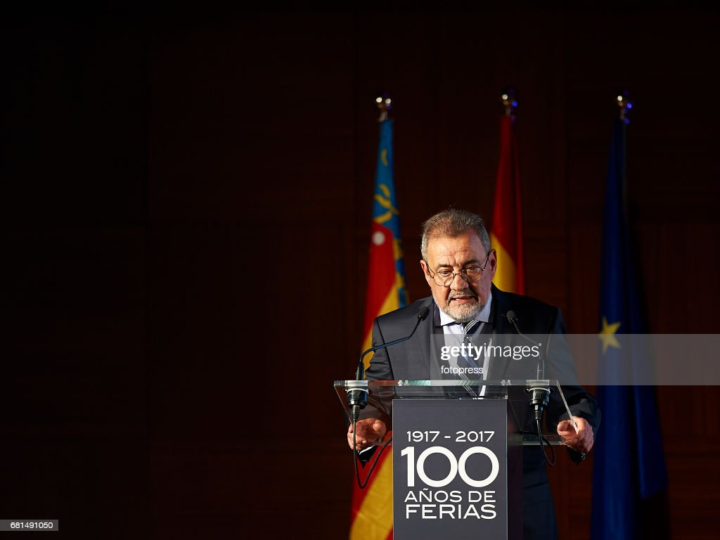 Jose Vicente Gonzalez President of Valencia's Fair Attends The Celebration Of The Centenary Of Valencia's Fair Foundation on May 10, 2017 in Valencia, Spain.
