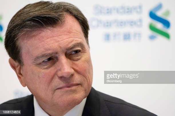 Jose Vinals chairman of Standard Chartered Plc attends a news conference in Hong Kong China on Tuesday July 31 2018 Standard Chartered one of the...