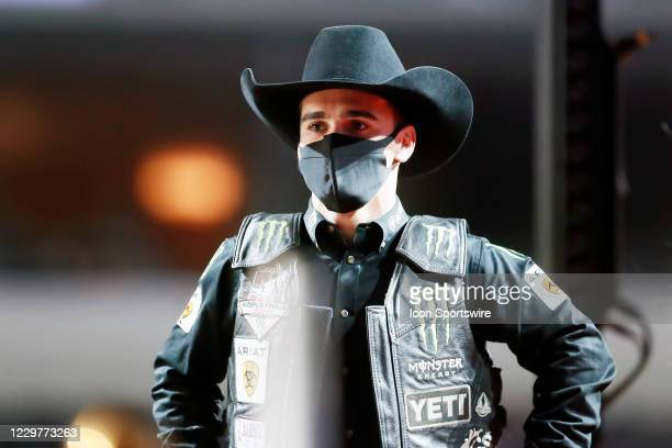 Jose Vitor Leme looks on during the PBR World Finals, on November 15th at the AT&T Stadium, Arlington, TX.