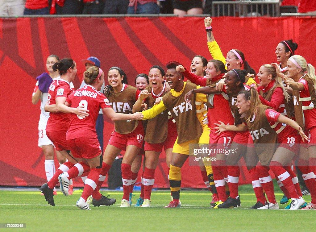 Canada v Switzerland: Round 16 - FIFA Women's World Cup 2015 : News Photo