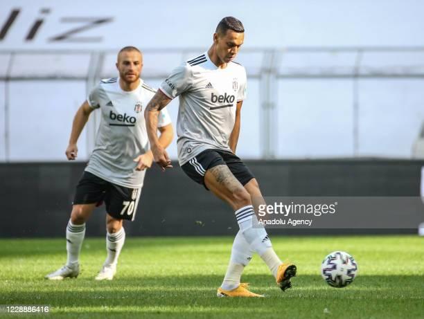 Josef and Gokhan Tore of Besiktas in action during Turkish Super Lig week 4 match between Besiktas and Genclerbirligi at Vodafone Park in Istanbul,...