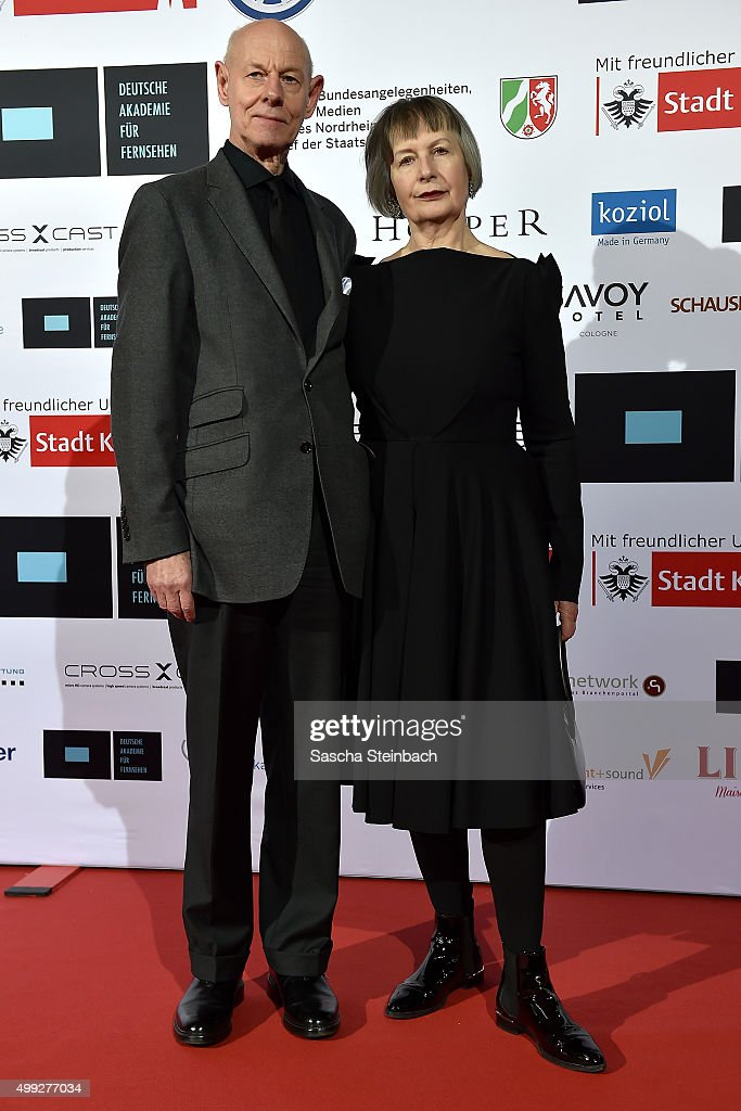 Josef Ballerstaller (L) attends the German television award by the Deutsche Akademie fuer Fernsehen at Museum Ludwig on November 28, 2015 in Cologne, Germany.