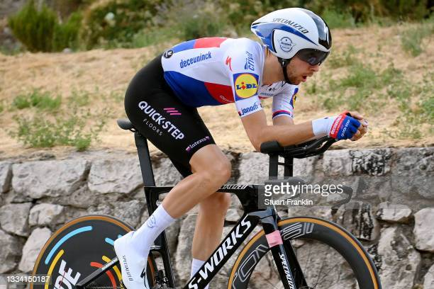 Josef Cerny of Czech Republic and Team Deceuninck - Quick-Step competes during the 76th Tour of Spain 2021, Stage 1 a 7,1km individual time trial...