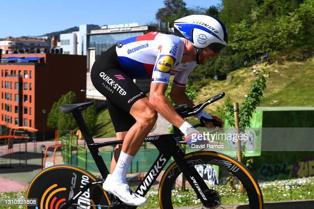 Josef Cerny of Czech Republic and Team Deceuninck - Quick-Step during the 60th Itzulia-Vuelta Ciclista Pais Vasco 2021, Stage 1 a 13,9km individual...