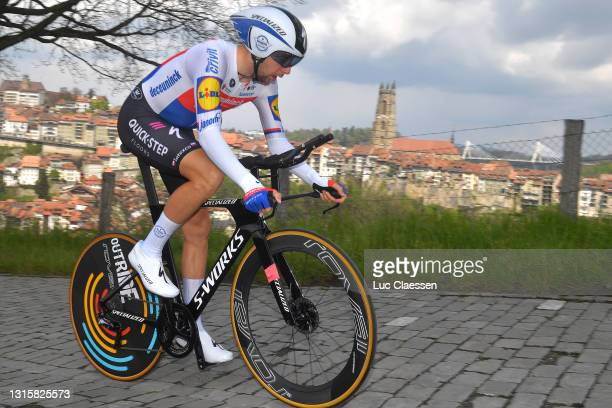 Josef Cerny of Czech Republic and Team Deceuninck - Quick-Step during the 74th Tour De Romandie 2021, Stage 5 a 16,19km Individual Time Trial stage...