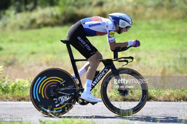 Josef Cerny of Czech Republic and Team Deceuninck - Quick-Step sprints during the 76th Tour of Spain 2021, Stage 21 a 33,8 km Individual Time Trial...