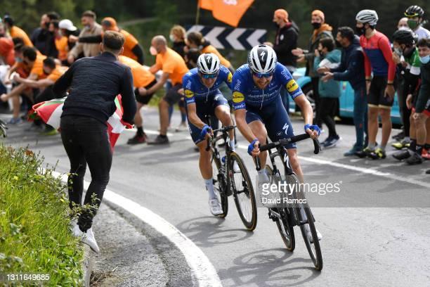 Josef Cerny of Czech Republic & Mikkel HonorŽ of Denmark and Team Deceuninck - Quick-Step during the 60th Itzulia-Vuelta Ciclista Pais Vasco 2021,...