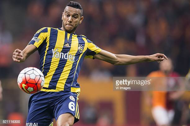 Josef de Souza Dias of Fenerbahce during the Super Lig match between Galatasaray and Fenerbahce on April 13 2016 at the Turk Telekom Arena in...