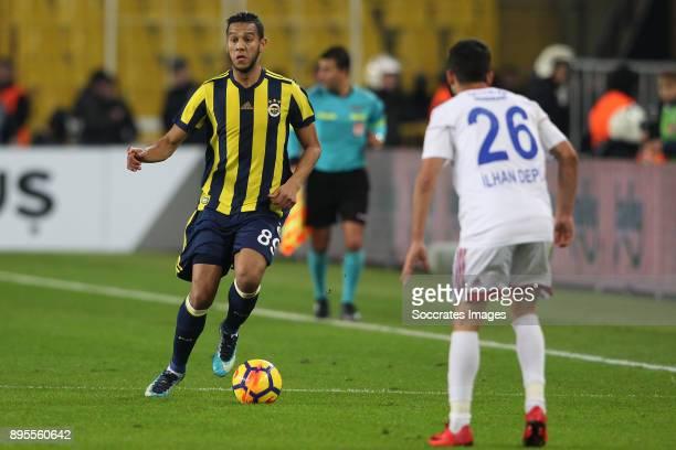 Josef De Souza Dias of Fenerbahce Ilhan Depe of Karabukspor during the Turkish Super lig match between Fenerbahce v Karabukspor at the Sukru...