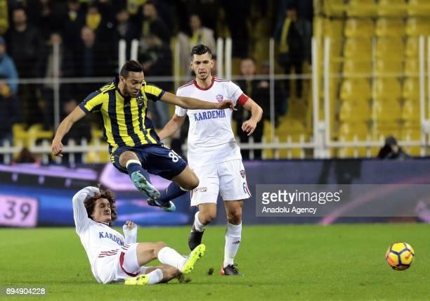 Josef De Souza of Fenerbahce in action during a Turkish Super Lig match between Fenerbahce and Kardemir Karabukspor at Ulker Stadium in Istanbul...