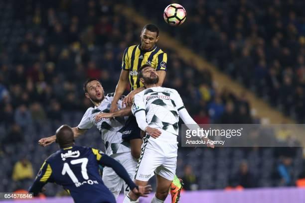 Josef De Souza of Fenerbahce in action during the Turkish Spor Toto Super Lig football match between Fenerbahce and Atiker Konyaspor at the Ulker...