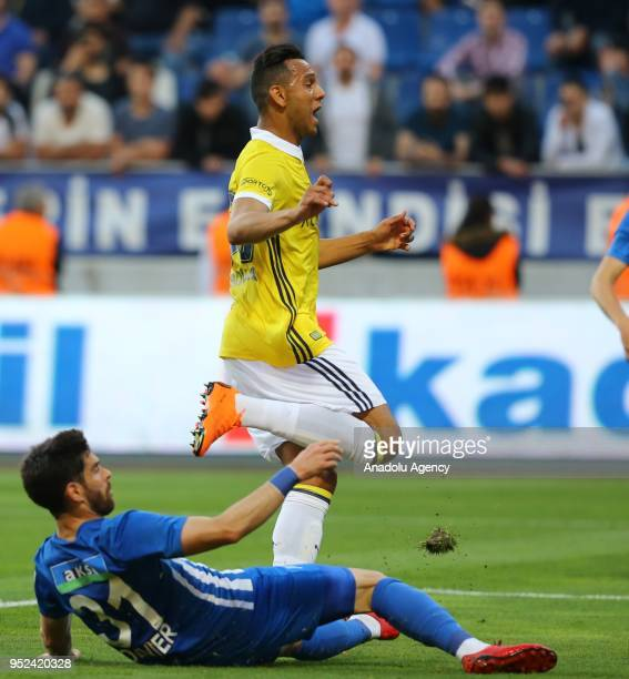 Josef De Souza of Fenerbahce in action during the Turkish Spor Toto Super Lig soccer match between Kasimpasa and Fenerbahce at the Recep Tayyip...