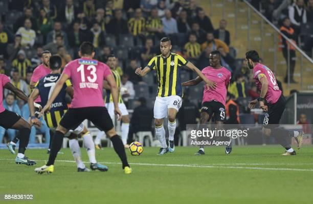 Josef De Souza of Fenerbahce in action during Turkish Super Lig match between Fenerbahce and Kasimpasa at Ulker Stadium in Istanbul Turkey on...