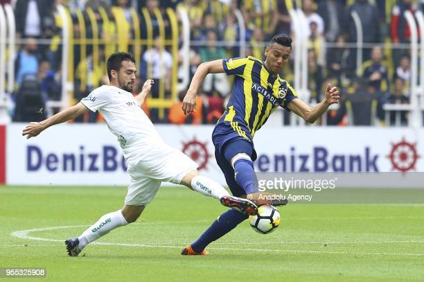 Josef De Souza of Fenerbahce in action during Turkish Super Lig soccer match between Fenerbahce and Bursaspor at Ulker Stadium in Istanbul Turkey on...