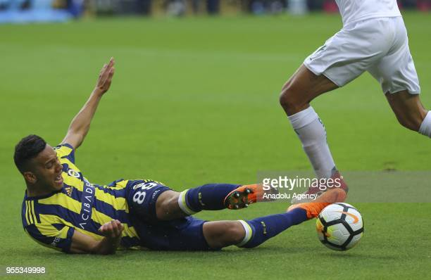 Josef De Souza of Fenerbahce vies for the ball during Turkish Super Lig soccer match between Fenerbahce and Bursaspor at Ulker Stadium in Istanbul...