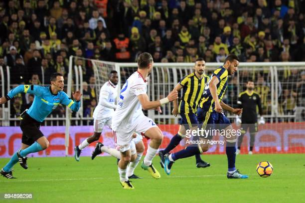 Josef deSouza of Fenerbahce in action during a Turkish Super Lig match between Fenerbahce and Kardemir Karabukspor at Ulker Stadium in Istanbul...