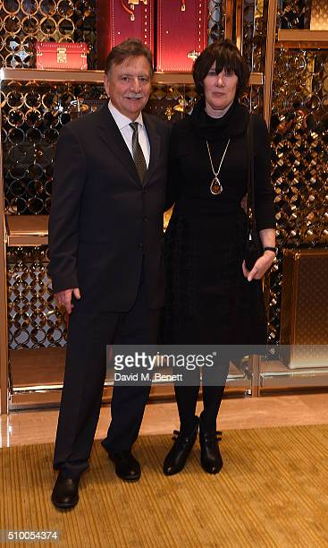 Josef Fassbender and Adele Fassbender attends the Louis Vuitton preBAFTA party at the New Bond Street store on February 13 2016 in London England