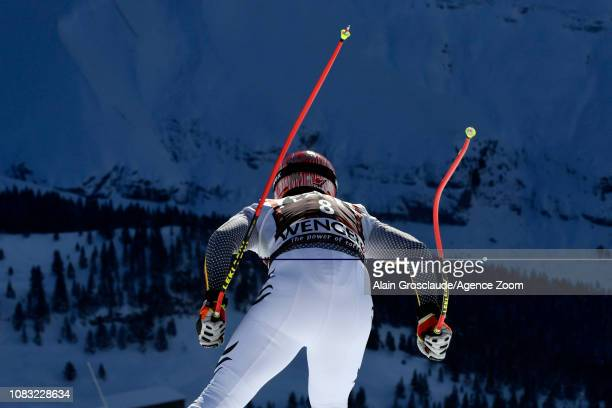 Josef Ferstl of Germany at the start during the Audi FIS Alpine Ski World Cup Men's Downhill Training on January 16, 2019 in Wengen Switzerland.